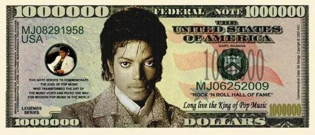 michael jackson money