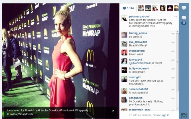 Peta Murgatroyd, DWTS, Dancing With The Stars, McDonald's