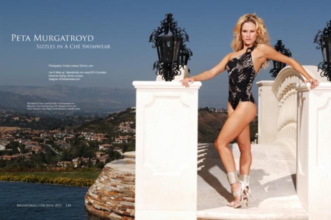 Regard Magazine, Peta Murgatroyd, A Che Swimwear, DWTS