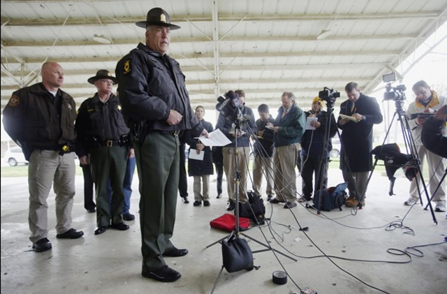 State Police addresses media after five people are found slain in their own home