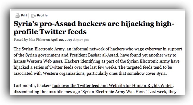 ap twitter hacked syrian electronic army