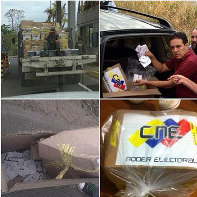 Twitter and Instagram photos with #FraudeElectoral (electoral fraude) as hashtag