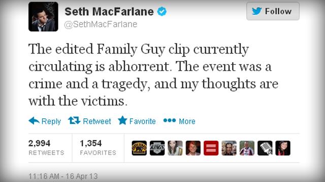 Seth MacFarlane's Twitter