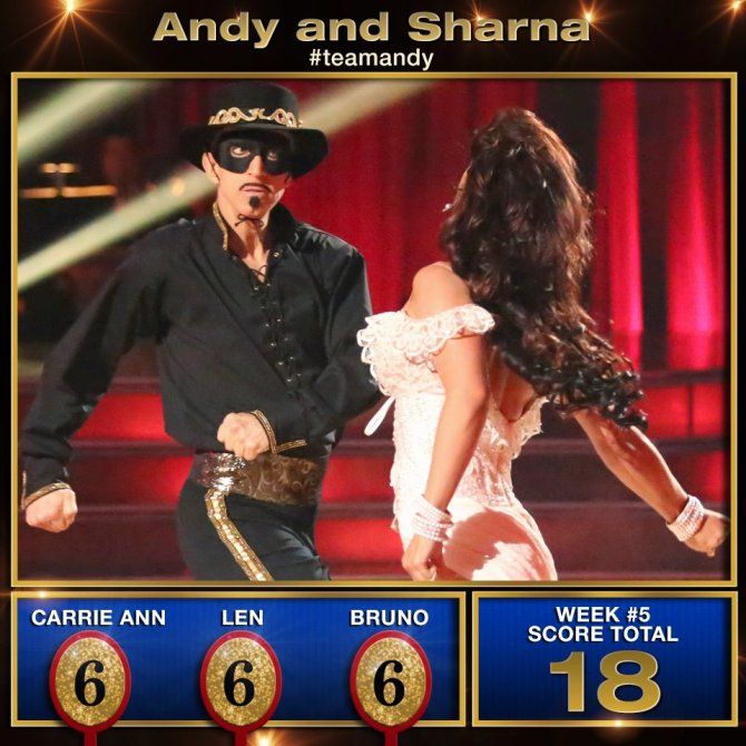Sharna Burgess, Andy Dick, DWTS, Dancing With The Stars, Zorro