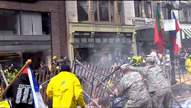 Soldiers Helping at the Boston Marathon Bombing