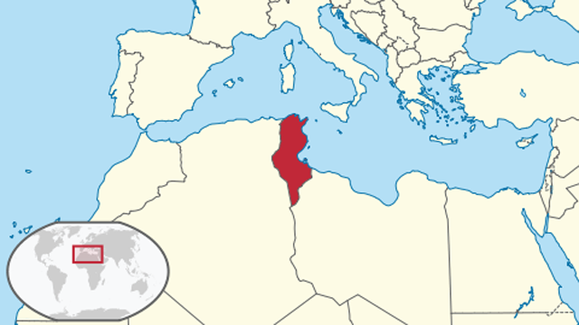 Tunisia is located in northern Africa. (Map via Wikipedia.)