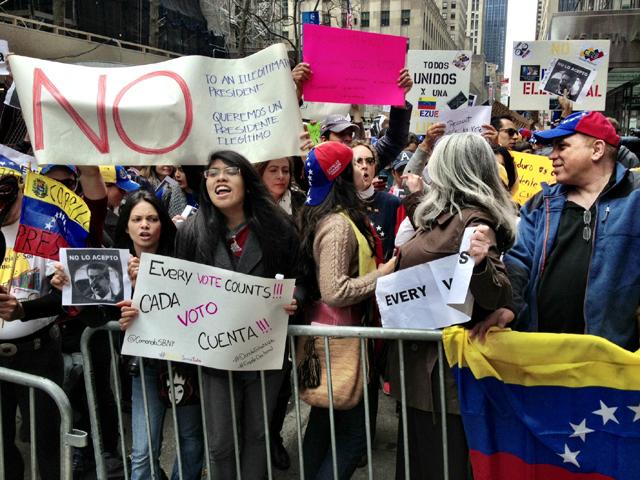 Venezuela Protest New York nicolas maduro