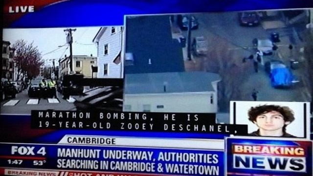 Zooey Deschanel Boston Bombing Suspect, Zooey Deschanel