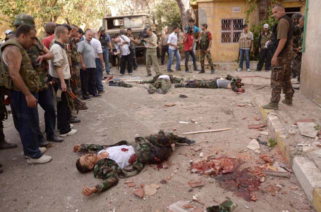 Syria uprising civil war suicide bombers