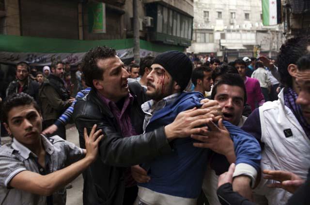 Syria civil war protest
