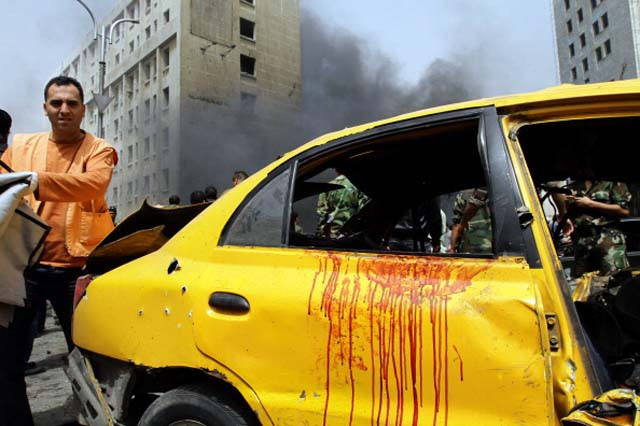 Syria War car bomb damascus