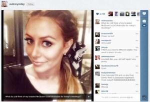 Danity Kane Instagram, Aubrey O'Day