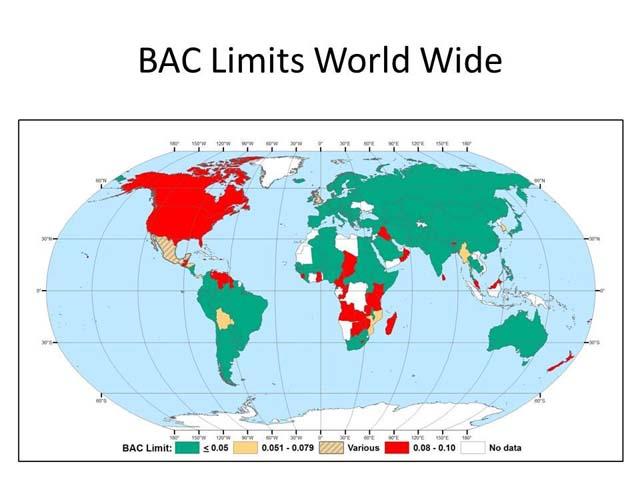 BAC limits NTSB