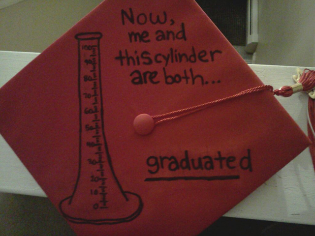 Chemistry Decorated Graduation Cap