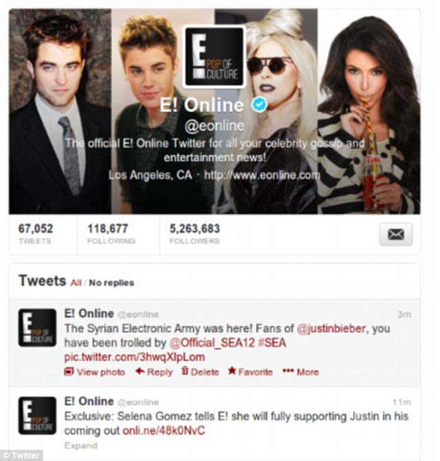 E! online Justin Bieber Gay