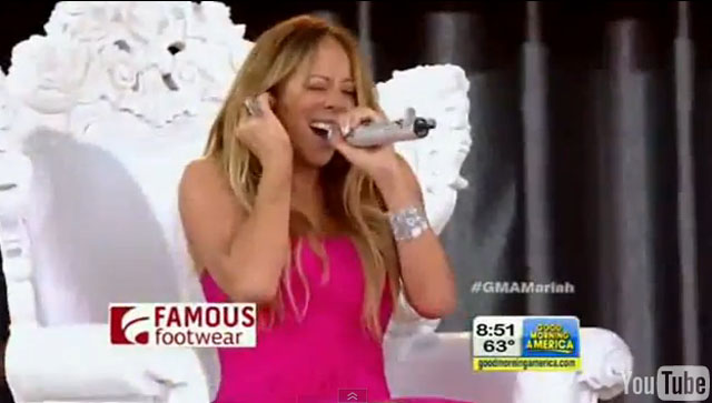 mariah Carey singing good morning america