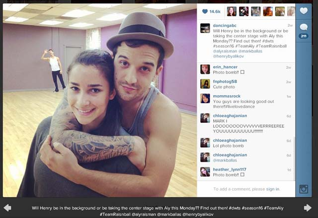 DWTS, Mark Ballas, Aly Raisman, Henry Byalikov, Dancing With The Stars