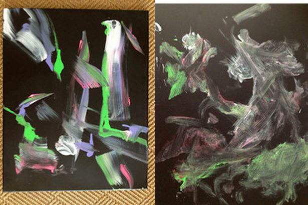 Bubbles' abstract paintings