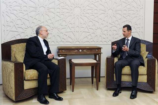 President Al Assad with Iran's Foreign Minister