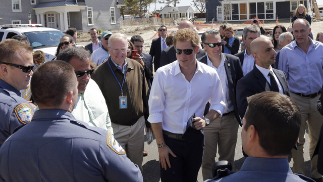 Prince Harry Visits The United States - Day Five Pics of Prince Harry, Chris Christie photos at Jersey Shore