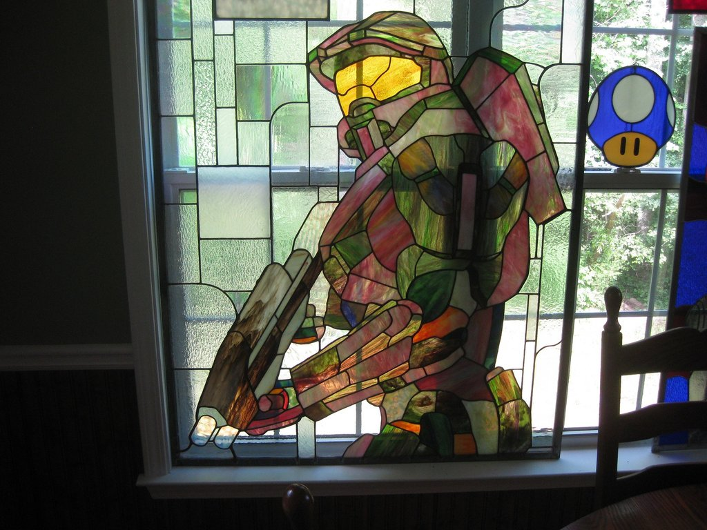 stained glass, video games