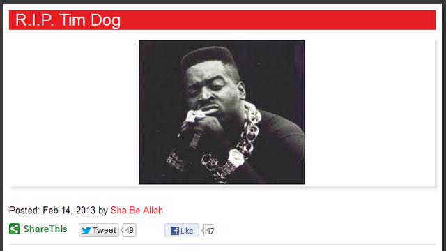 Tim Dog, Tim Dog Faked Dearth