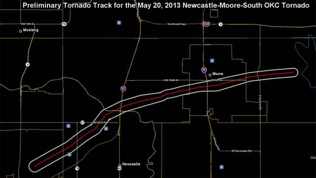 Tornado Track Moore