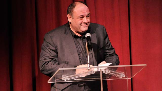 Actor James Gandolfini speaks onstage at the 2012 New York Film Critics Circle Awards at Crimson on January 7, 2013 in New York City. (Photo by Stephen Lovekin/Getty Images)