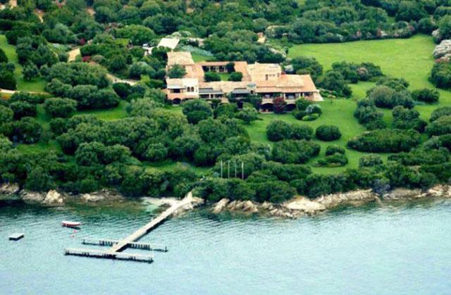 Berlusconi's lavish vacation home