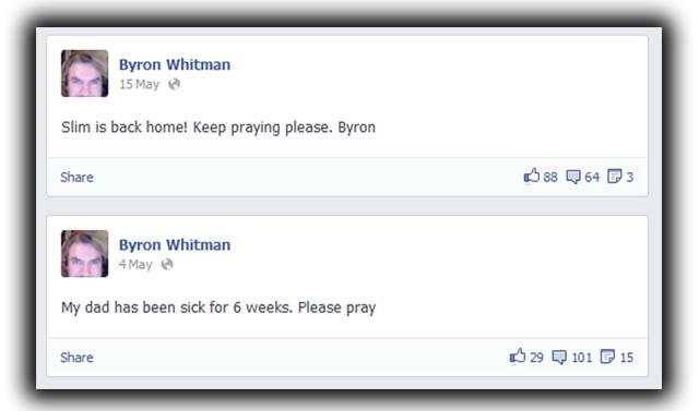 Byron Whitman Slim Whitman son Dies