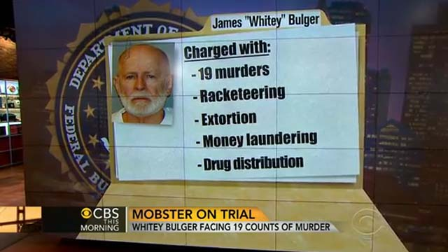Whitey Bulger Trial, James Whitey Bulger Trial First Day.