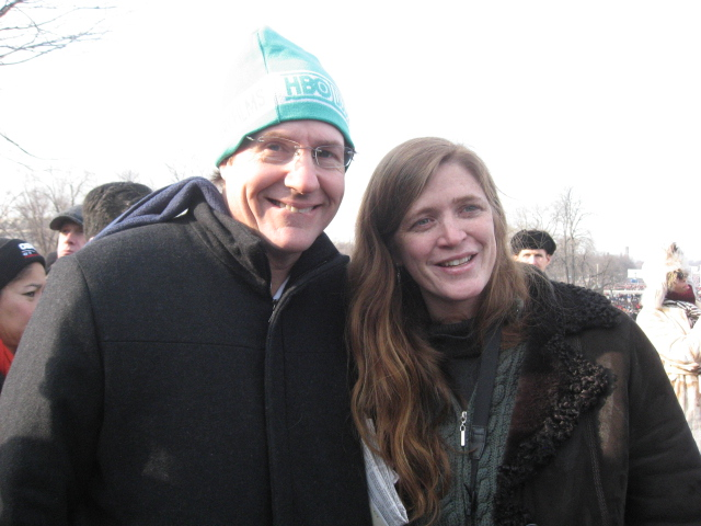 Power with her husband Cass Sunstein