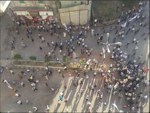 egypt twitter clashes violence