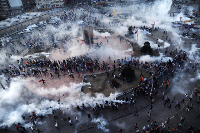 Turkey Protests Taksim Square