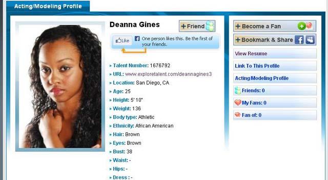 Deanna Gines, Chris Brown Assault