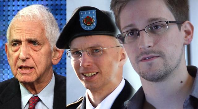 Ellsberg Manning Snowden, whistleblowers, charges