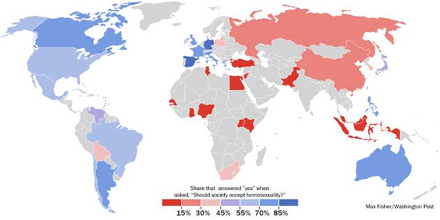 Gay Tolerance Map