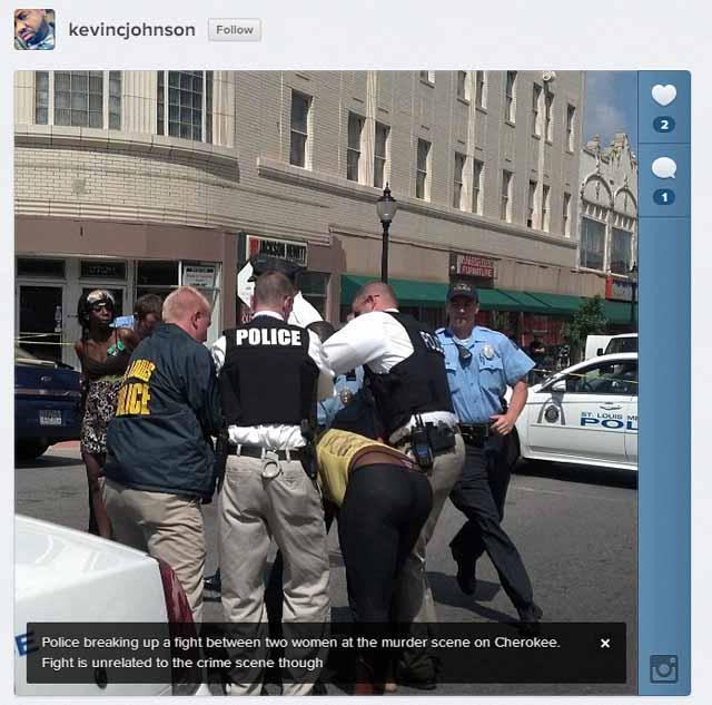 Fight at St. Louis Murder Scene