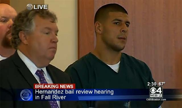Aaron Hernandez Bail Hearing Odin Lloyd Murder Charge