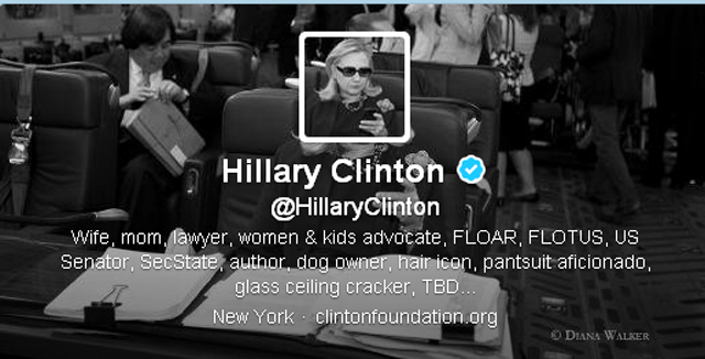 Hillary Clinton Twitter account