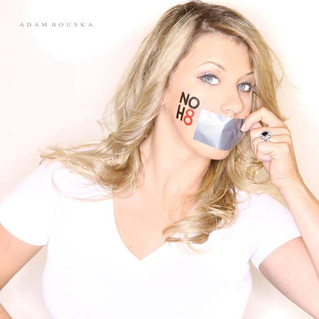 NOH8, Prop 8, Celebrity Twitter, Tweet, Full House, Jodie Sweetin, Gay Equality, Gay Marriage, DOMA, Prop 8