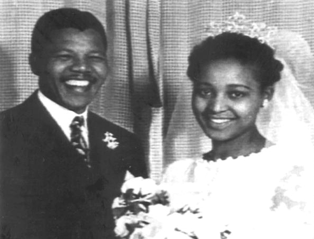 Nelson Mandela and his then-wife Winnie at their wedding in 1957. She is currently and executive member of the ANC (Getty Images)