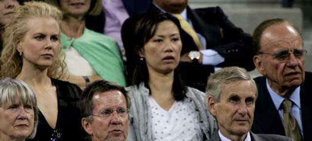 Rupert Murdoch Wendi Deng Nicole Kidman US Open Tennis Rupert Murdoch Divorce