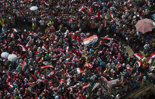 Opponents of Egyptian President Mohamed Morsi gather for a protest calling for his ouster (Getty Images)