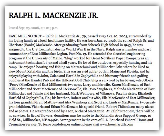 Gloria MacKenzie Powerball Winner, Gloria MacKenzie Ralph Husband Dead