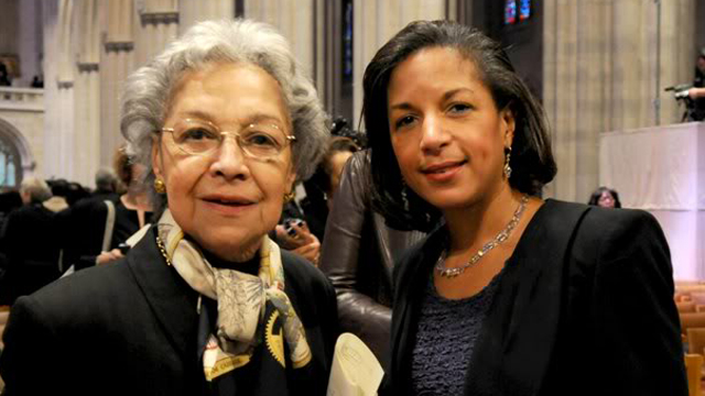 Rice with her mother Lois Dickson Fitt