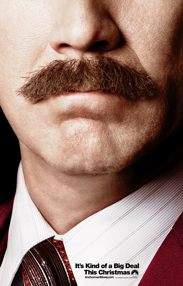 ron burgundy ron burgundy , anchorman 2 poster