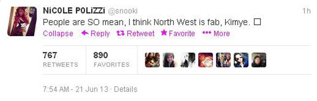Kimye Baby, North West, Snooki