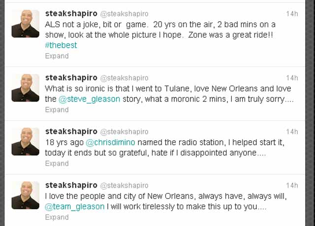 From Steak Shapiro's Twitter.