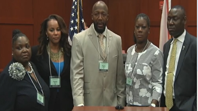 Trayvon Martins Family plead for peace before trial